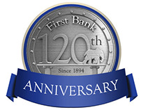 First Bank anniversary logo