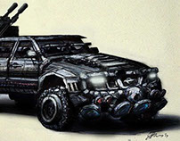 Sci-fi rebel car