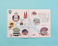 Illustrated map of Shanghai (Xujiahui)