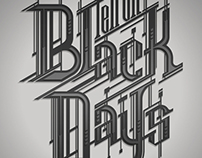 BLACK DAYS_typo design