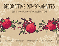 Decorative pomegranates