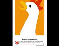Air Canada Newspaper ads