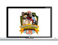 Logo for shaun the sheep in Bahrain