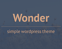 Wonder | Simple Wordpress Theme