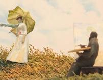 Dit Femme à l'ombrelle toumée vers la droite