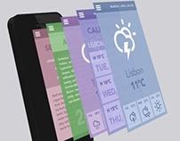 3D Menu  i-phone flat design