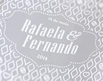 Convite de Casamento - Rafaela & Fernando