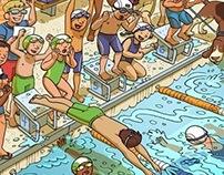 Hidden Picture: Swim Relay