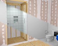 Shower Waterproof Kit - Installation Animation