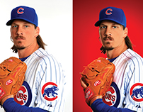 Chicago Cubs Player Retouch