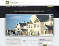 Worcester Investments web design