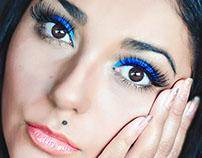 Blue, digital makeup