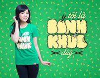 """""""Bánh khúc"""" - T-shirt design"""