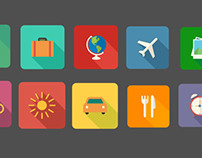 Vacations flat icons