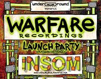 Warfare recordings Launch party + logo