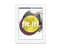 UX/UI: fit it! iPad Application