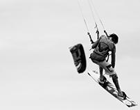 Kitesurfing at Bull Island, Dublin