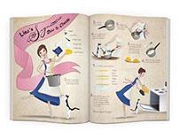 Illustrated Recipe Magazine Spread