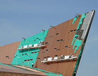 SHEATHING OF THE COPPER FIN AT THE CANADIAN WAR MUSEUM