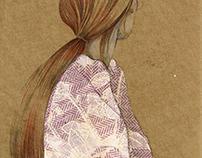 Gingerhair in flower kimono.
