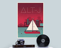 Alt-J Screen Printed Poster