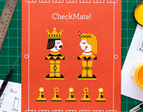 Checkmate Screen Printed Illustration