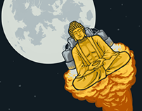 T-shirt Design || Rocket Buddha