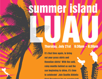 Summer Island Luau Promotional Poster