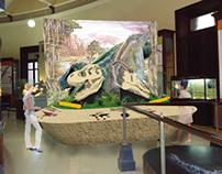 T-Rex and Prosaurophus' skull exhibit