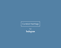 Curated Hashtags for Instagram