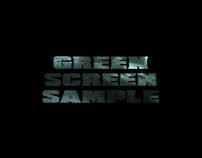 Green Screen Sample