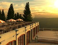 Visualisierung Berghotel