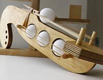 Ping Pong Ball Shooter & Shooting Gallery