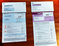 AT&T Direct Mail BAU letter design (Purple Reign)