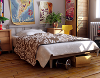 3D Lighting & Rendering | The Bedroom