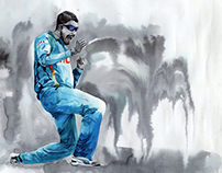Watercolor Calendar 2014- Mumbai Cricket Association