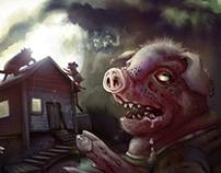 Three Little Zombie Pigs