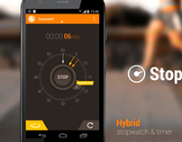 Promo video for my android app Hybrid Stopwatch & Timer