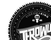 Throwup video logo