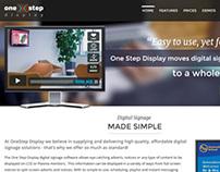 One Step Display Website Design