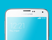 Samsung Galaxy S5 Vector Illustration