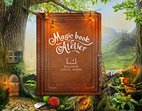 Concept. Magic book atelier. App redesign.