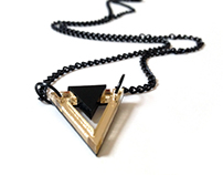 Mini Gold Triangle Necklace