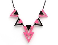 Pink Zag Necklace