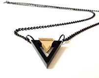 Mini Black Triangle Necklace