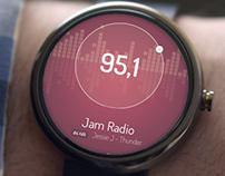 Android Wear FM Radio UI Concept