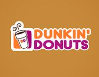 Dunkin' Donut Logo Animation