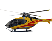 WIP - Eurocopter EC135. First Blender project