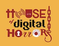 Norton House of Digital Horrors logo and invitation