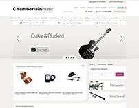 Chamberlain Music ebay store design